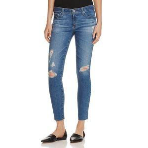 AG The Legging Ankle Super Skinny Jeans Blue 29R